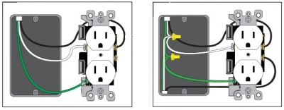 how to install a usb wall receptacle connect the wiring to the usb receptacle the correct polarity black wire on the brass terminal screw white wire on the silver terminal screw